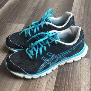 Women's ASICS gel-enviro TR blue black sneakers 8